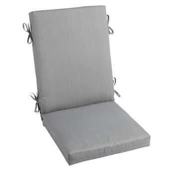 Solid Gray Indoor/Outdoor Hinged Chair Pad
