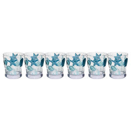 Coastal Seashells Acrylic Double Old-Fashioned Glasses, Set of 6 view 1