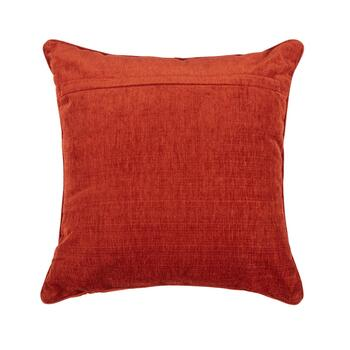 Beaded Pumpkin Chenille Square Throw Pillow view 2