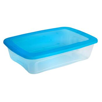 28-Qt. Blue Lid Plastic Storage Container