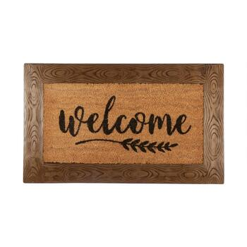 "The Grainhouse™ 18""x30"" ""Welcome"" Border Coir Door Mat"
