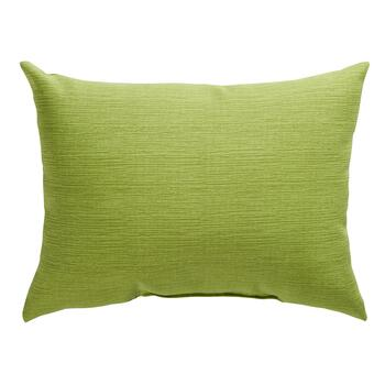 Solid Green Indoor/Outdoor Oblong Pillow