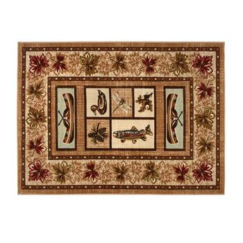 8'x10' Lodge Canoe Grid Area Rug