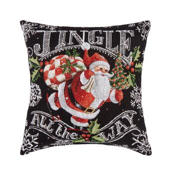 "16"" ""Jingle All the Way"" Truck Square Throw Pillow"