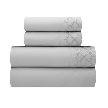 Gate Embroidered Queen Sheet Set view 1