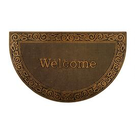 "18""x30"" Gold ""Welcome"" Metallic Rubber Door Mat"