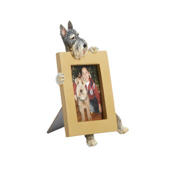 "2.5""x3.5"" Gray Dog Face Frame"