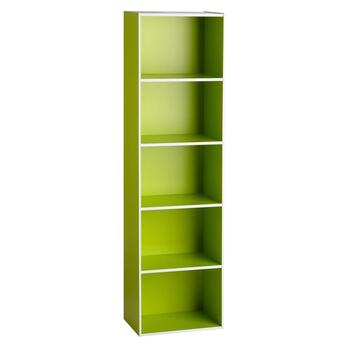 5-Tier White Trim Bookcase