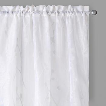 White Vine Window Curtains, Set of 2
