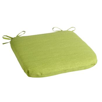 Solid Green Indoor/Outdoor Squared Seat Pad