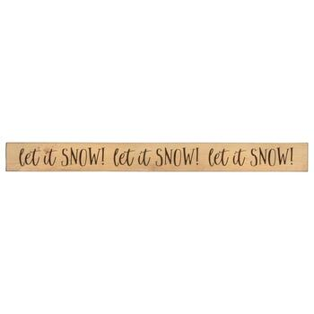 "36"" ""Let it Snow!"" Wood Wall Sign"