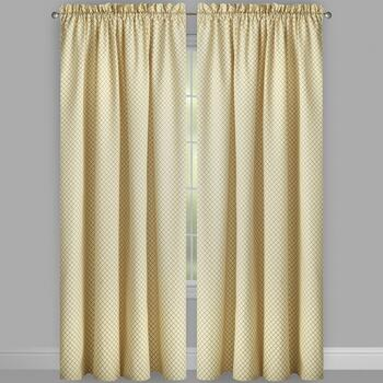 "Traditions by Waverly® 84"" Crisscross Window Curtains, Set of 2 view 2"