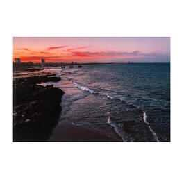 Sunset Beach Photograph Canvas Wall Art view 1