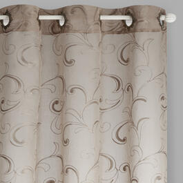 "84"" Climbing Ivy Embroidered Window Curtains, Set of 2 view 1"