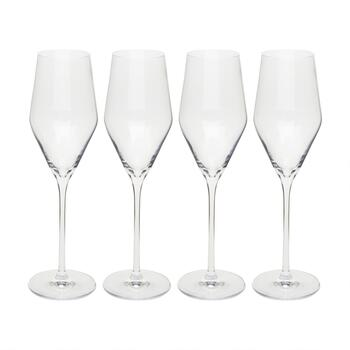6-oz. European Champagne Flutes, Set of 4