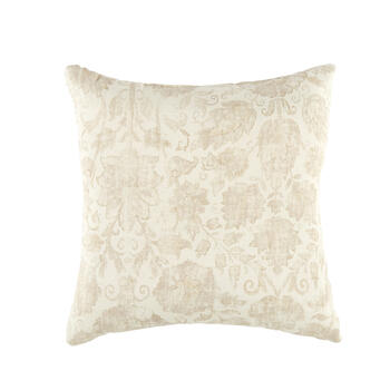 Floral Leaf Pattern Square Throw Pillow view 1