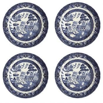 Blue Willow Imperial Decorative Salad Plates, Set of 4