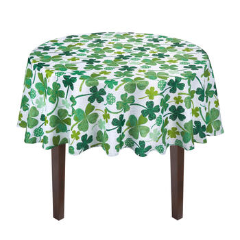Floral Shamrocks Tablecloth view 2