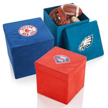 Sports Team Collapsible Storage Ottomans