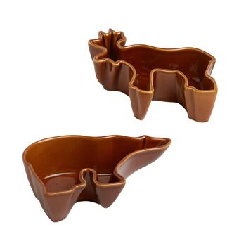 Brown Lodge Tidbit Bowls, Set of 4