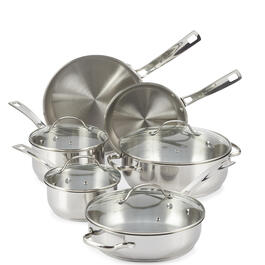 Oneida® 10-Piece Stainless Steel Cookware Set view 1