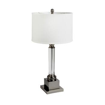 "22.5"" Crystal Column Square Base Table Lamp"