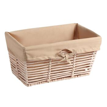 Horizontal Paper Weave Basket with Lining