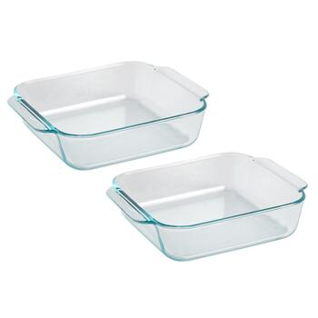 Pyrex® 2-Qt. Square Glass Bakers, Set of 2