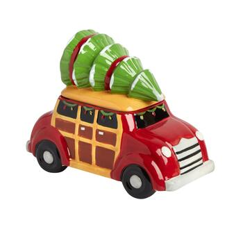 Christmas Tree Vintage Car Cookie Jar