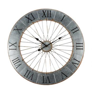 "31"" Metal Spokes Round Wall Clock"