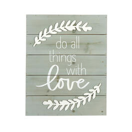 "16""x20"" ""Do All Things with Love"" Gray Cutout Wood Wall Decor view 1"