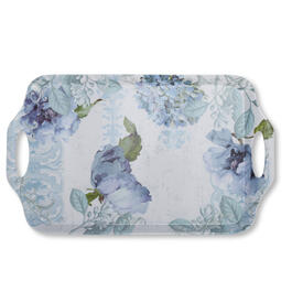 Petal and Stone™ Floral Rectangular Serving Tray with Handles view 1