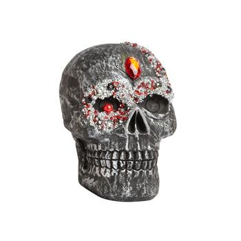"6"" Medium Gem-Studded Skull Decor"