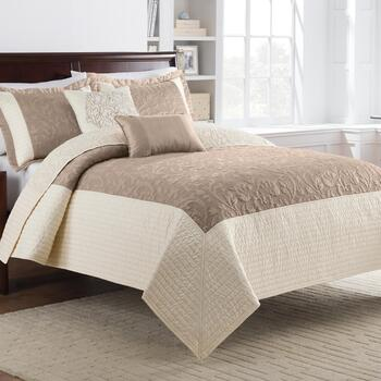 Tan Bristol Cotton Quilt Set