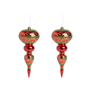 "12.5"" Red/Green Jumbo Finial Ornament view 1"