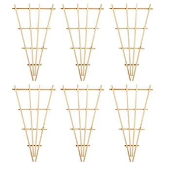 "34"" Wooden Garden Trellises, Set of 6"