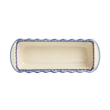 Polish Pottery Floral Large Fluted Loaf Pan view 2