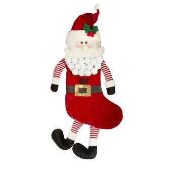 Velvet Santa Stocking with Dangling Legs