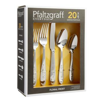 Pfaltzgraff® Floral Frost Flatware Set, 20-Piece view 2
