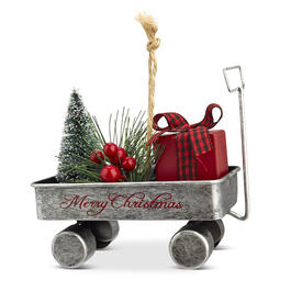 Christmas Traditional Metal Wagon Tree Ornament view 1