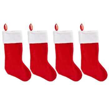 "22"" Traditional Christmas Stockings, Set of 4"