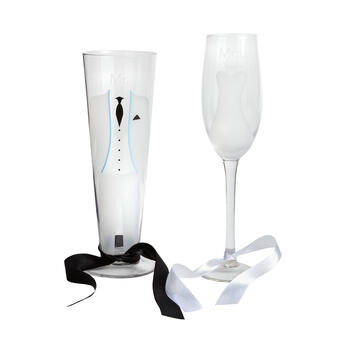 Bride and Groom Glasses, Set of 2 view 1