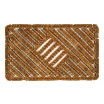 Coir Mid Stripe Boot Scraper Door Mat