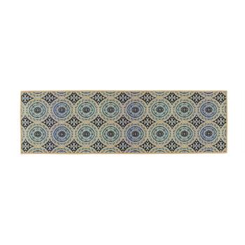 Large Medallion Pattern All-Weather Area Rug view 2 view 3 view 4