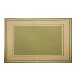 Green Border All-Weather Area Rug