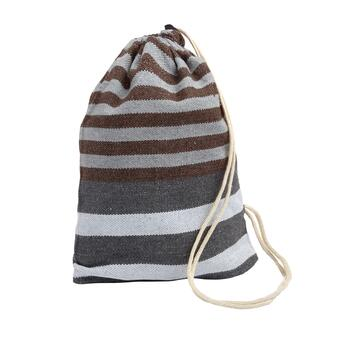 Gray/Brown Stripes Hammock in a Bag view 2