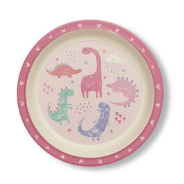 Boys Dinosaur Plate view 1