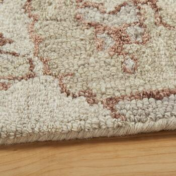 5'x8' Ivory/Gray Floral Wool Area Rug view 2