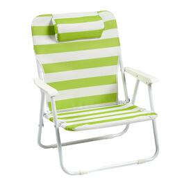 Striped Beach Chair with Pillow