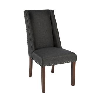 "38.5"" Winged Back Parsons Chair with Nailheads"